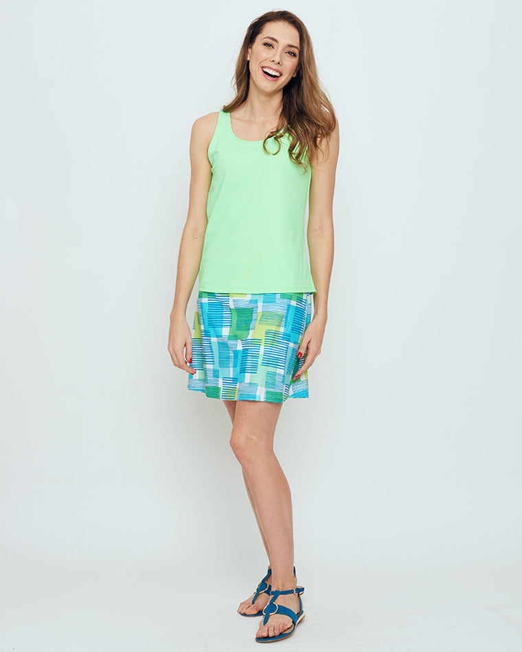 Serrano Tank Top in Hot Lime Solid