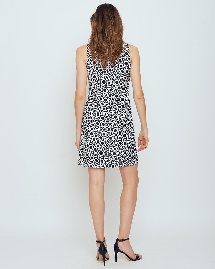 Capri Sheath Dress in Black & White In Shapes