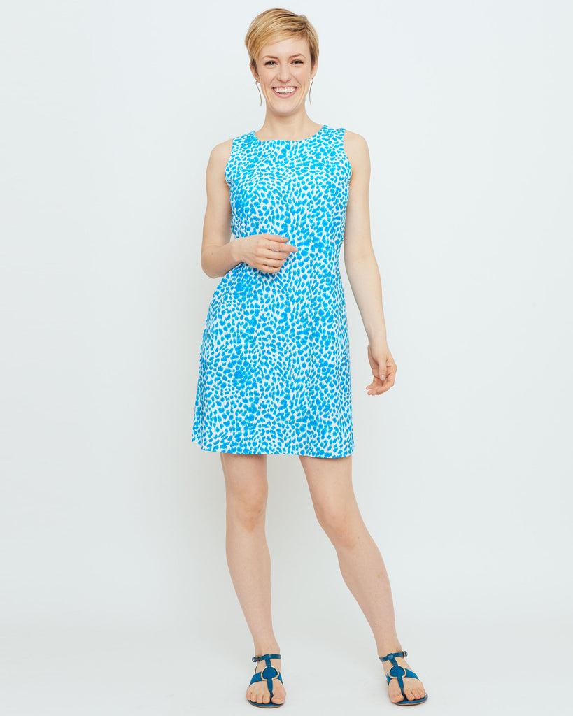 Capri Sheath Dress in Turquoise Skin Tight