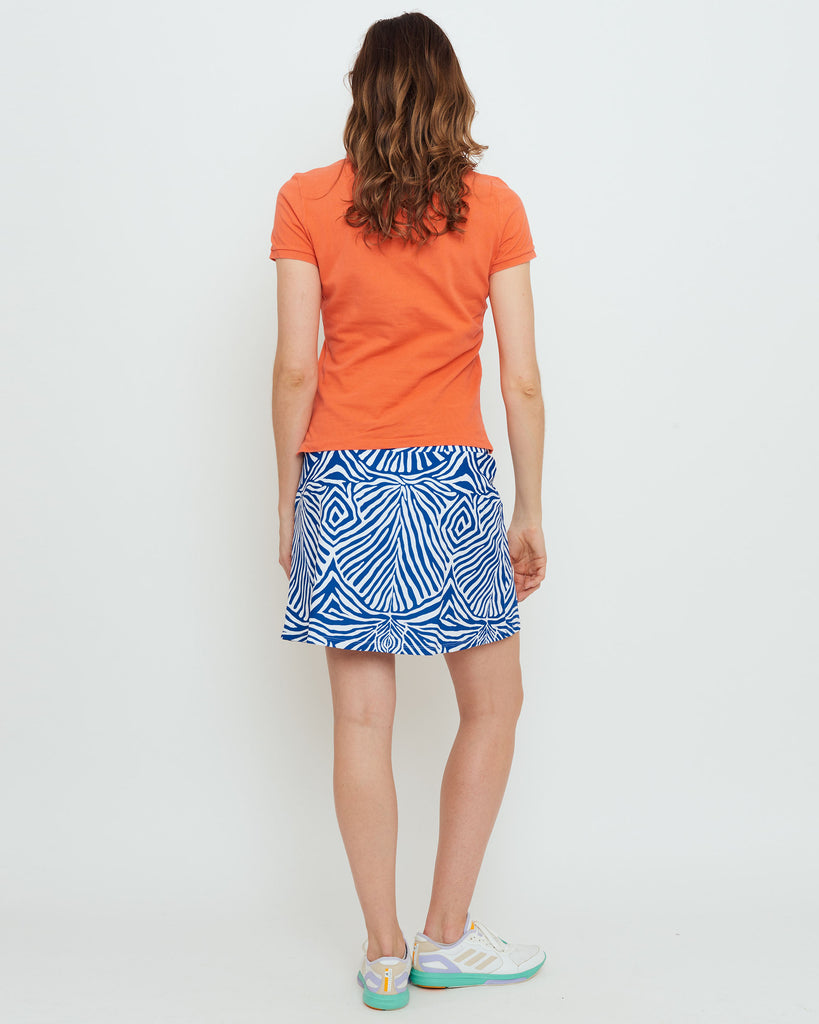 Tenerife Skort in Blue Safari Stripes