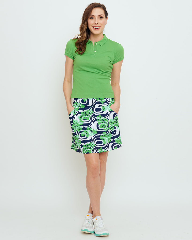 Tenerife Skort in Kelly Green Optic Hibiscus