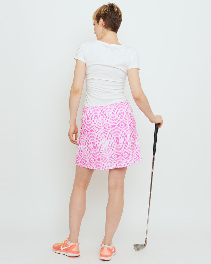 Tenerife Skort in Hot Magenta Lattice Lace