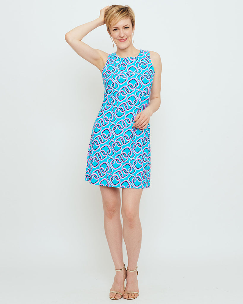 Capri Sheath Dress in Magic Rings