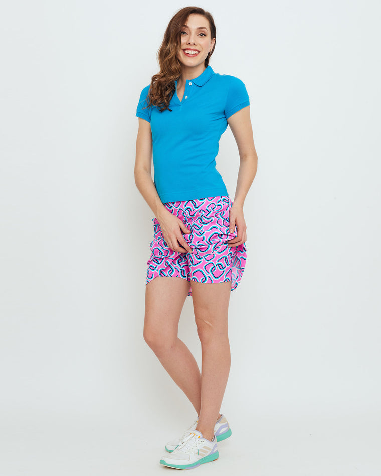 Tenerife Skort in Hot Magenta Magic Rings