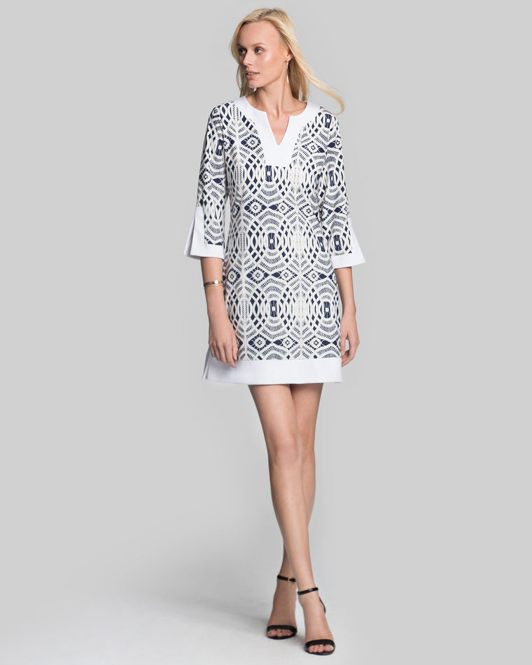 Avian Tunic Dress in Lattice Lace