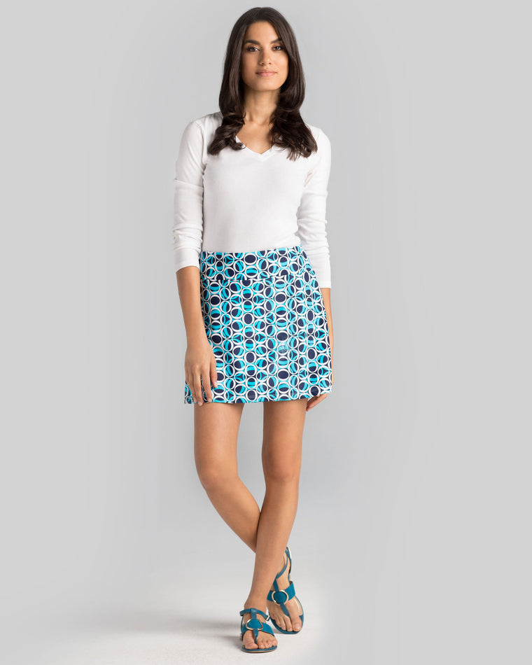 Bali Skort in Blue Ellipses