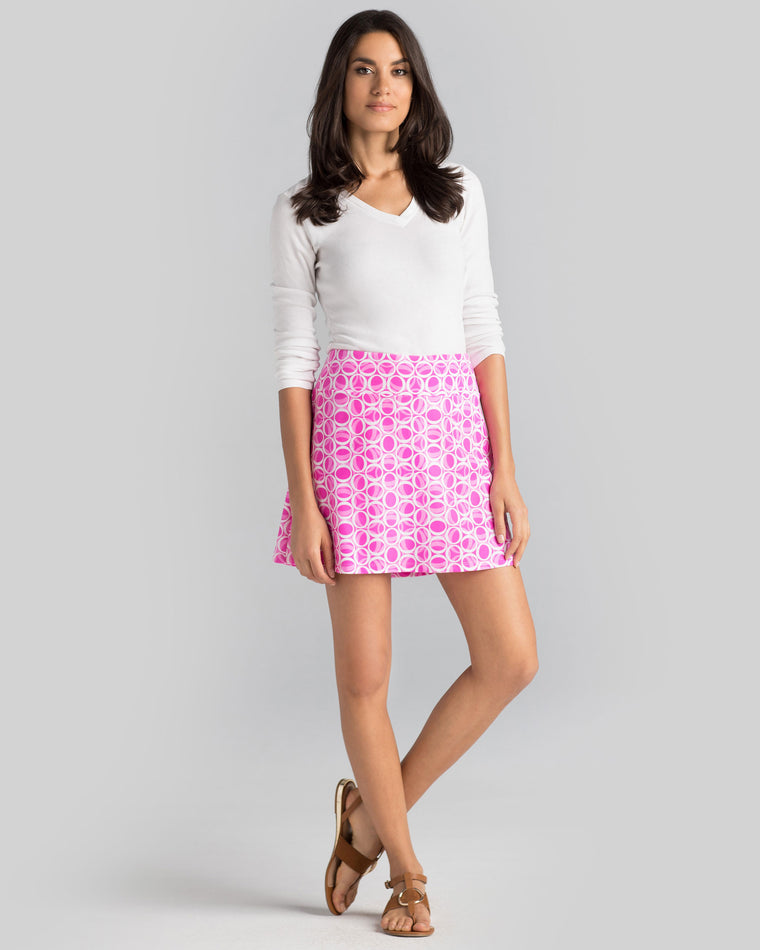 Bali Skort in Hot Magenta Ellipses