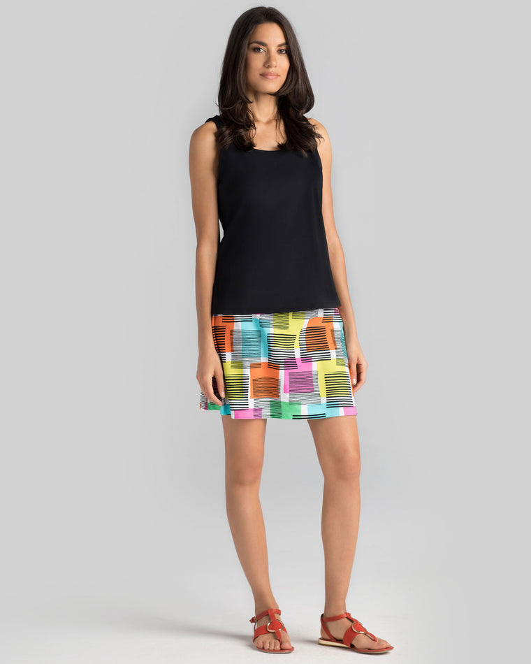 Bali Skort in Multi Post It