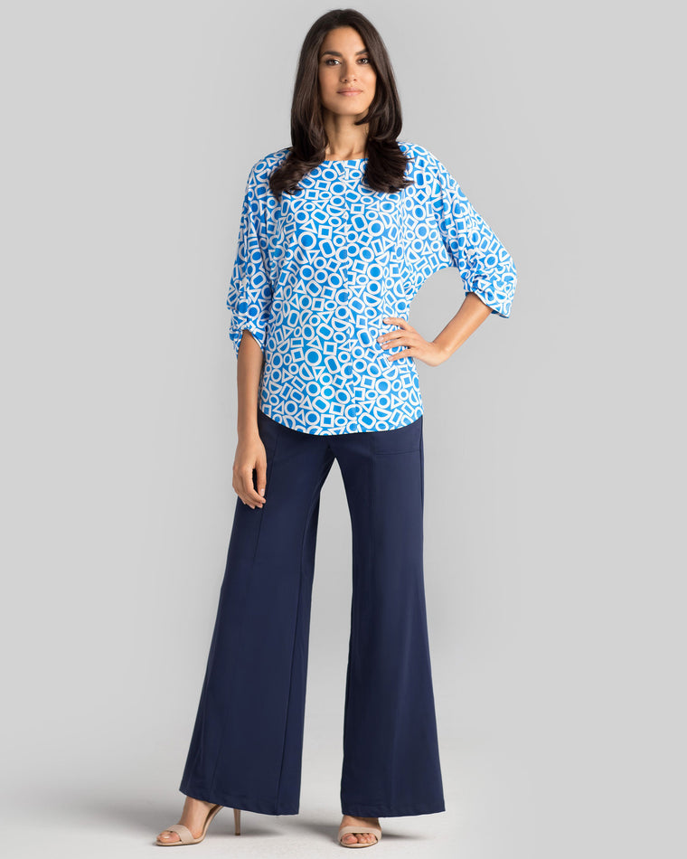 Brunny Top in Blue In Shapes