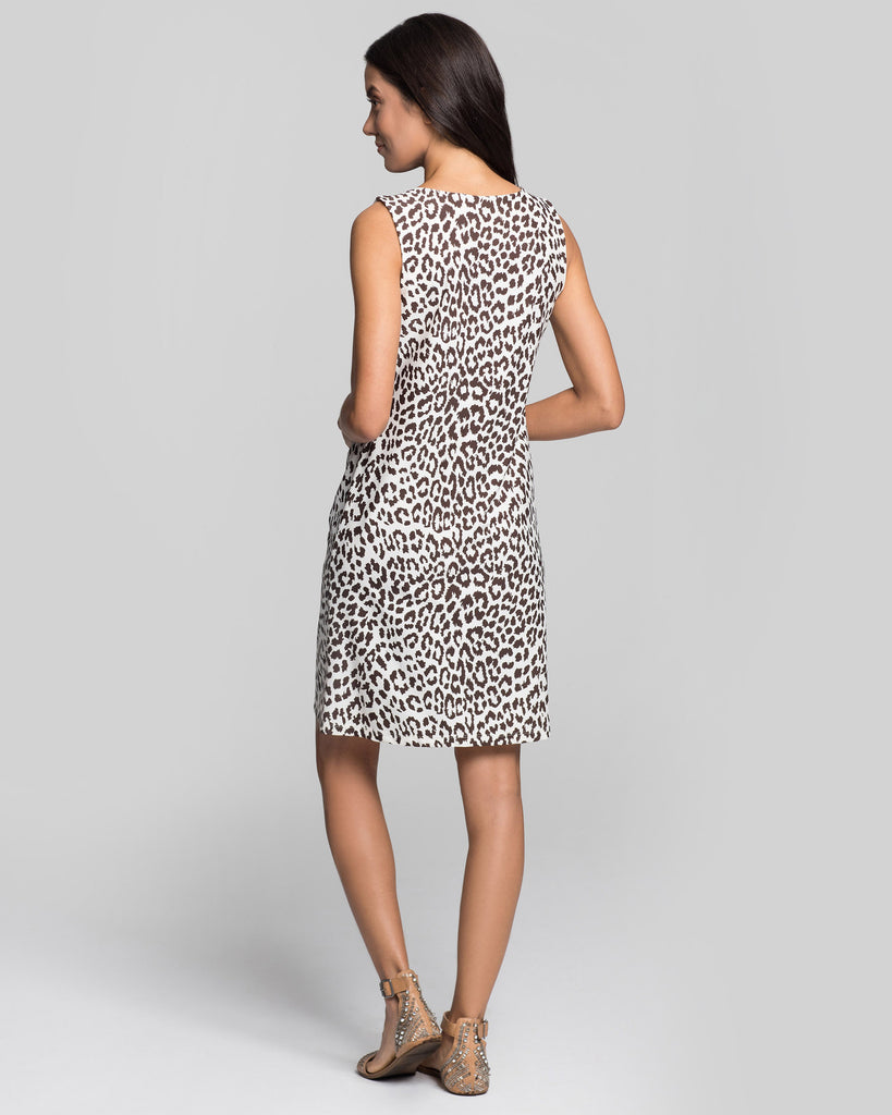 Capri Sheath Dress in Snow Leopard