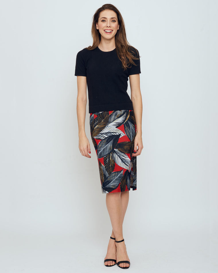 Thule Pencil Skirt in Red A New Leaf