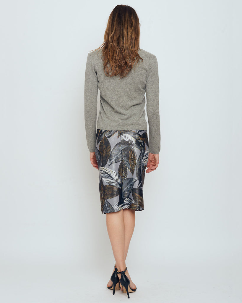 Thule Pencil Skirt in Grey Metallic A New Leaf