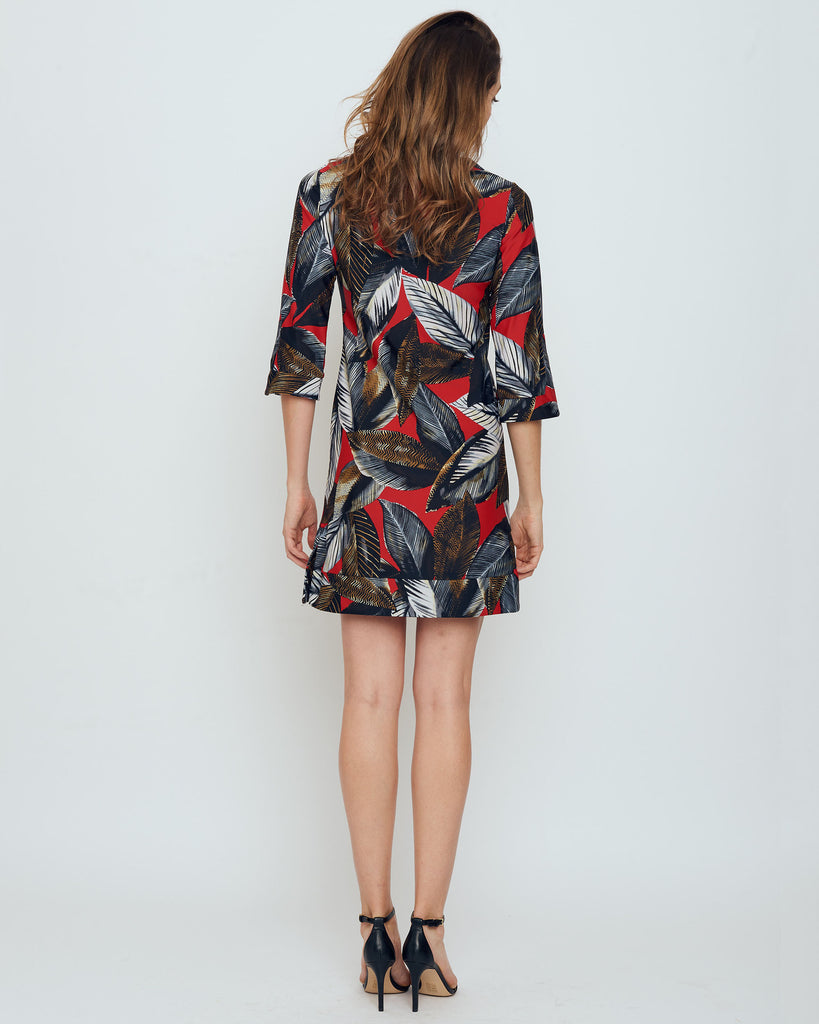 Avian Tunic Dress in Red A New Leaf