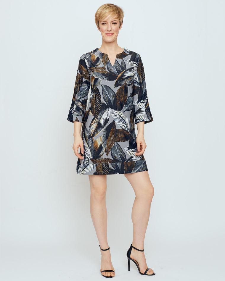 Avian Tunic Dress in Grey A New Leaf