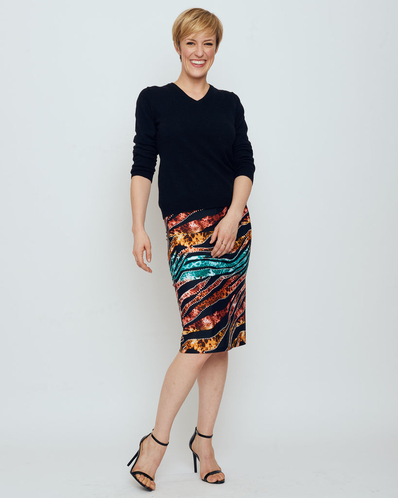 Thule Pencil Skirt in Jungle Love