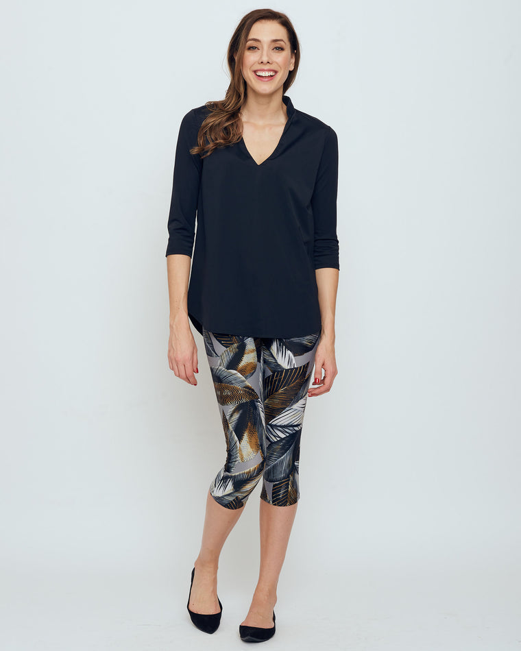 Palmyra Cropped Legging in Grey A New Leaf