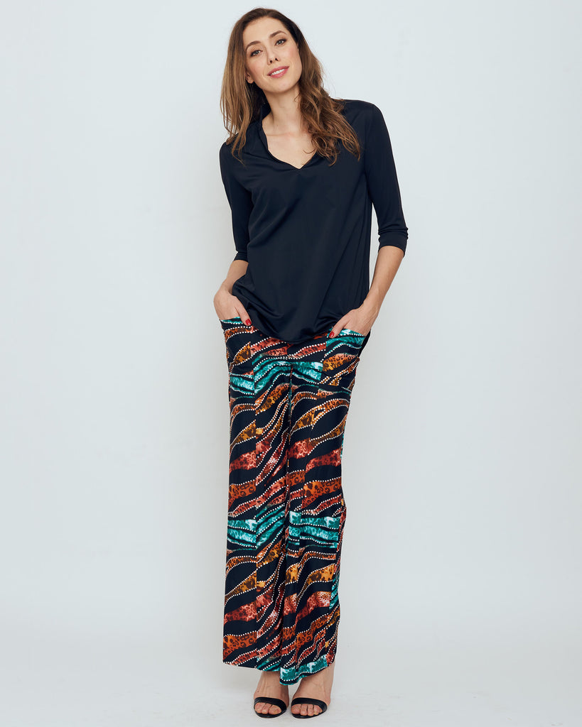 Cartier Flare Leg Pant in Jungle Love