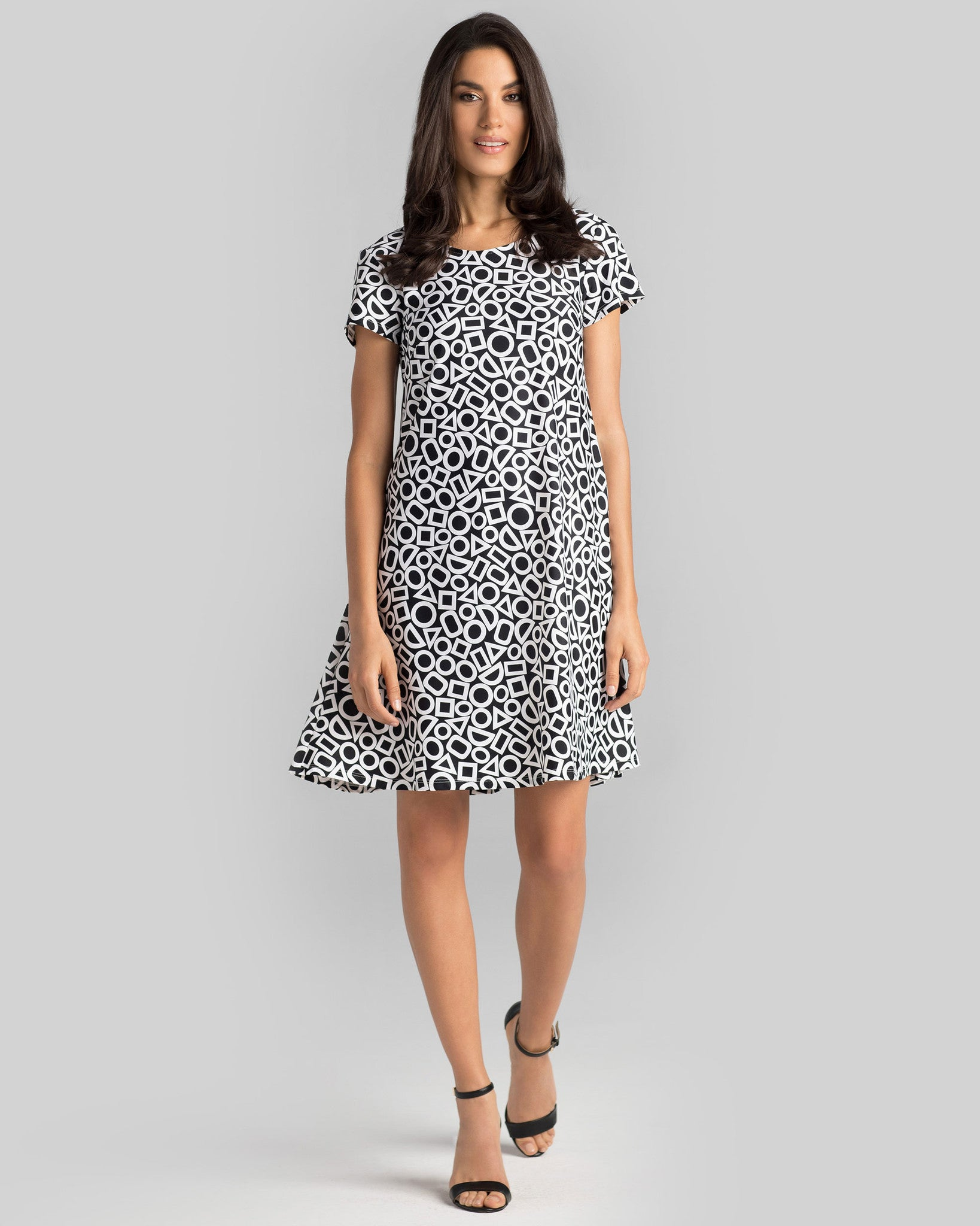 T shirt dress black and white - Ibiza T Shirt Dress In Black White In Shapes
