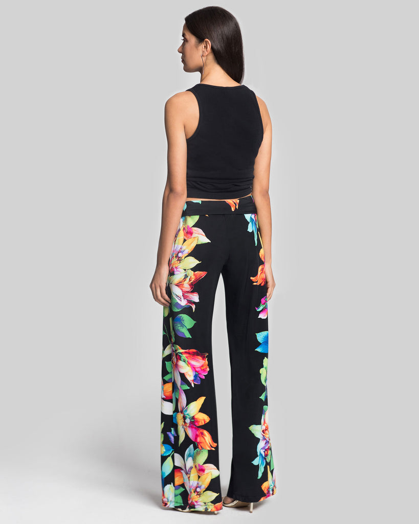 Salina Pants in Black Tropical