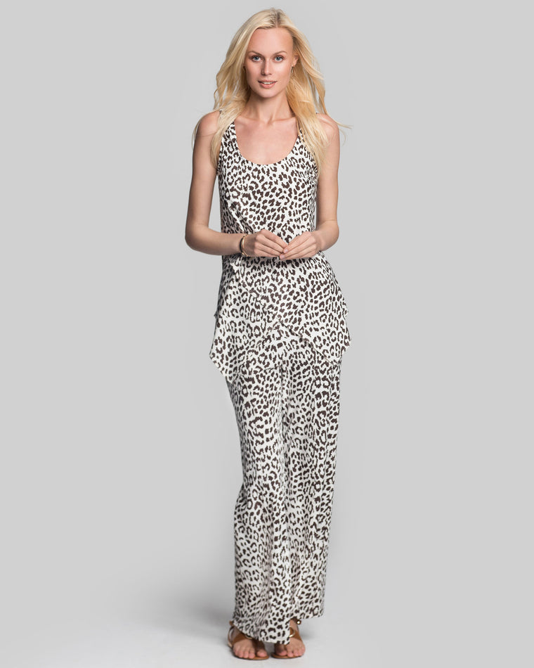 Cartier Flare Leg Pant in Snow Leopard