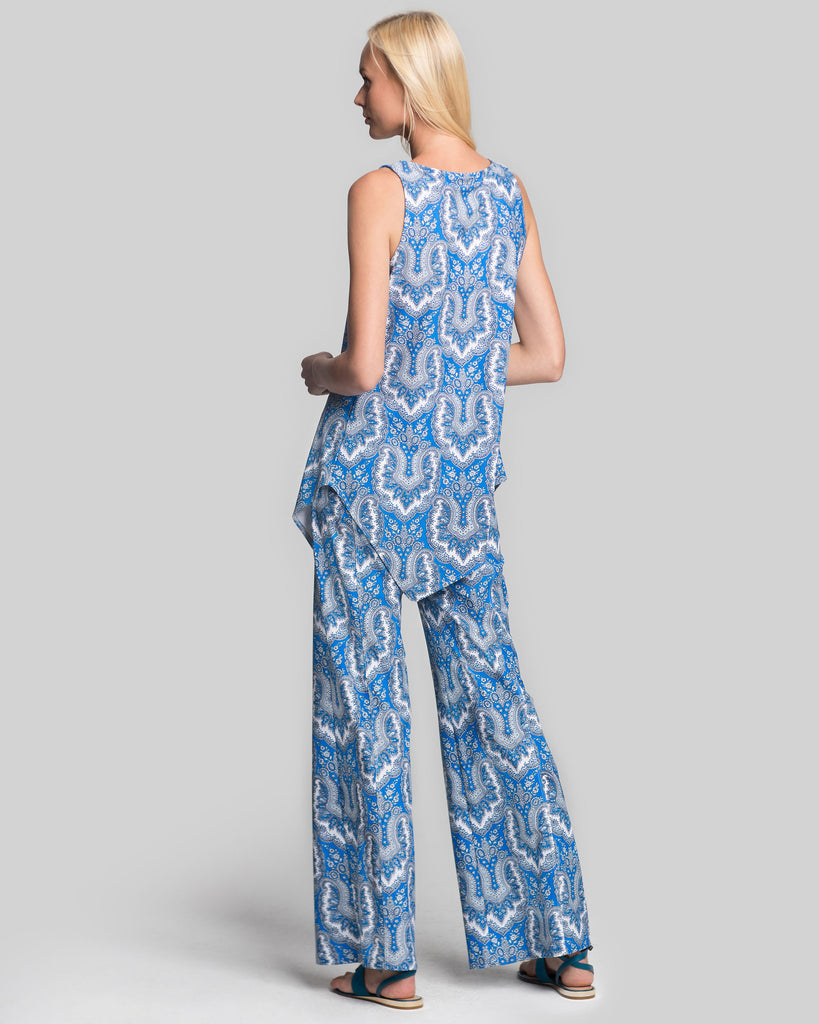 Cartier Flare Leg Pant in Royal Scroll