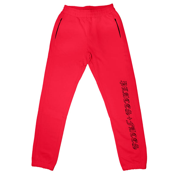 OLD ENGLISH SWEATPANTS RED