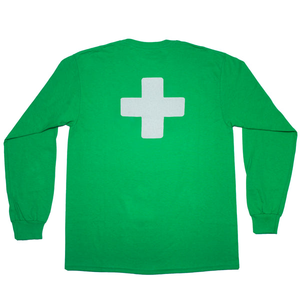 GREEN LONG SLEEVE T-SHIRT 3M LOGO