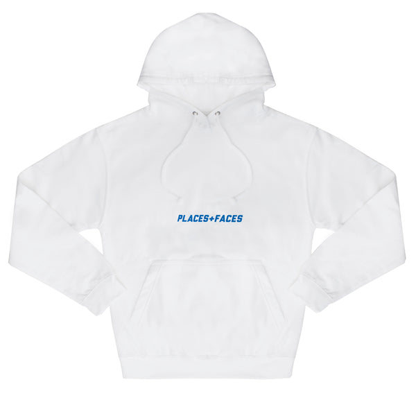 WHITE BELLY LOGO HOODIE - BLUE PUFF