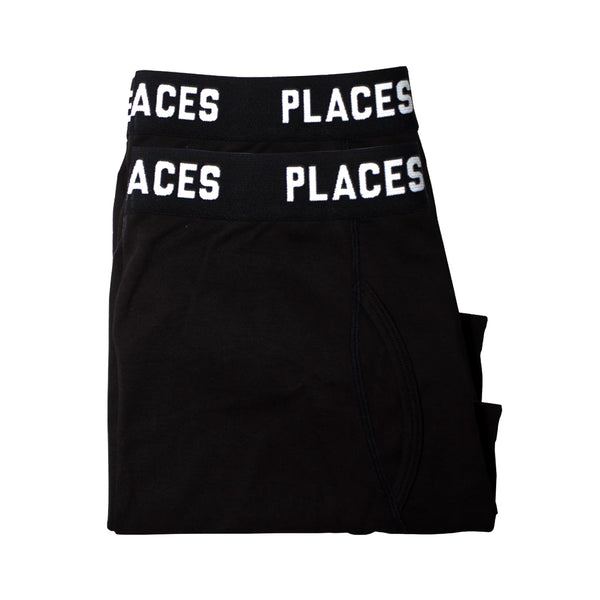 P+F UNDERWEAR SET - 2PACK -  BLACK