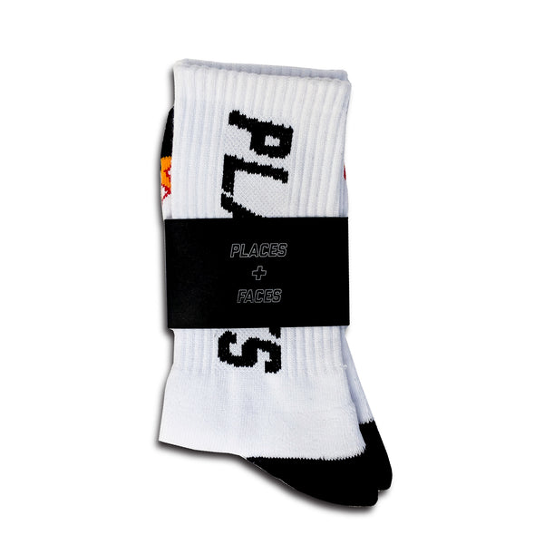 WHITE FLAME SOCKS