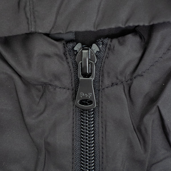 TECH NYLON TRACKJACKET - BLACK