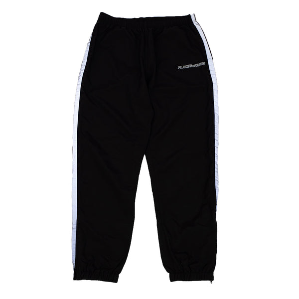 BLACK REFLECTIVE 3M STRIPED TRACKPANTS