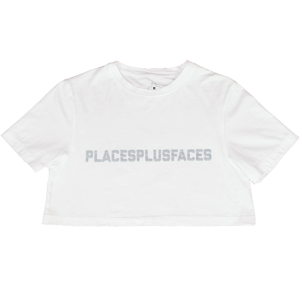 P+F CROP T-SHIRT - WHITE