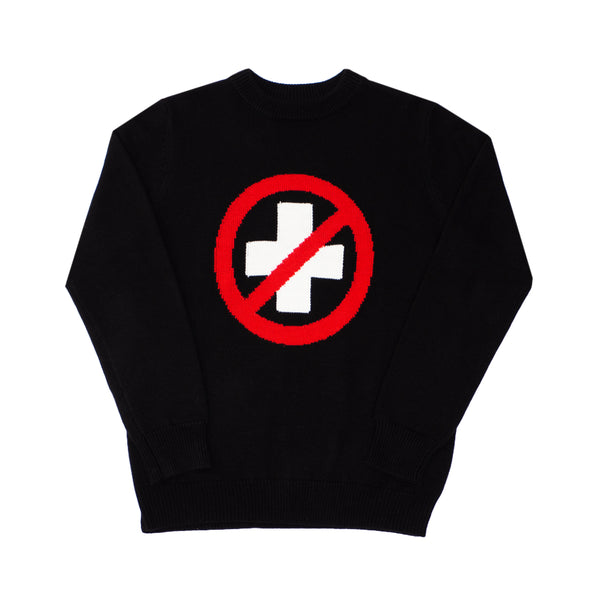 CAUTION MERINO SWEATER - BLACK