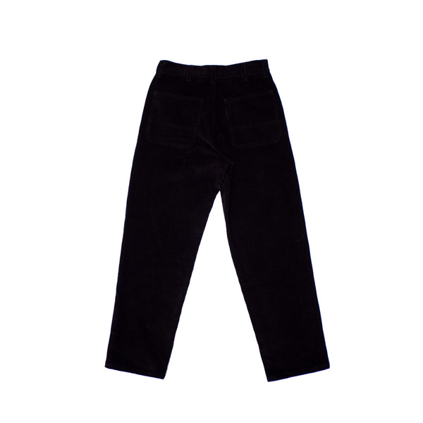 CORDUROY TROUSERS - BLACK