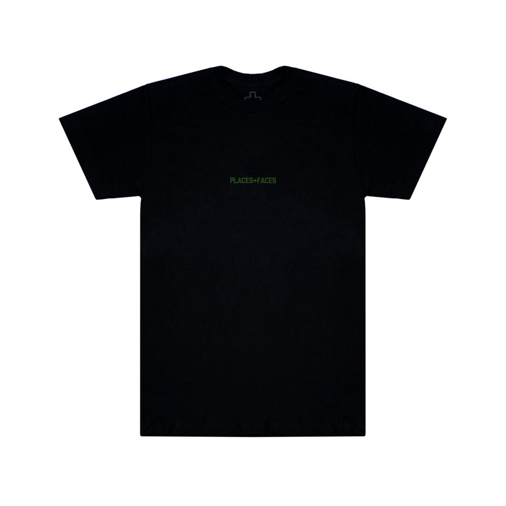 SIGNATURE LOGO T-SHIRT - BLACK/KHAKI