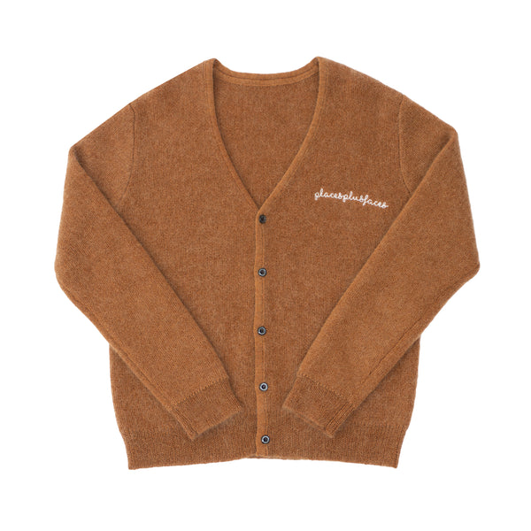 MOHAIR CARDIGAN - HAZEL BROWN