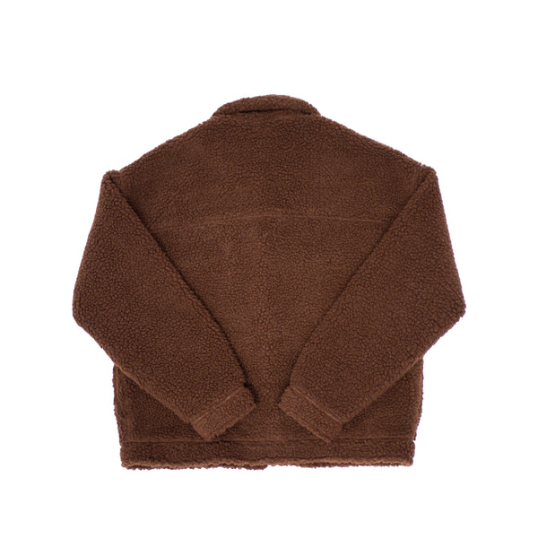 SHERPA TRUCKER JACKET - BROWN