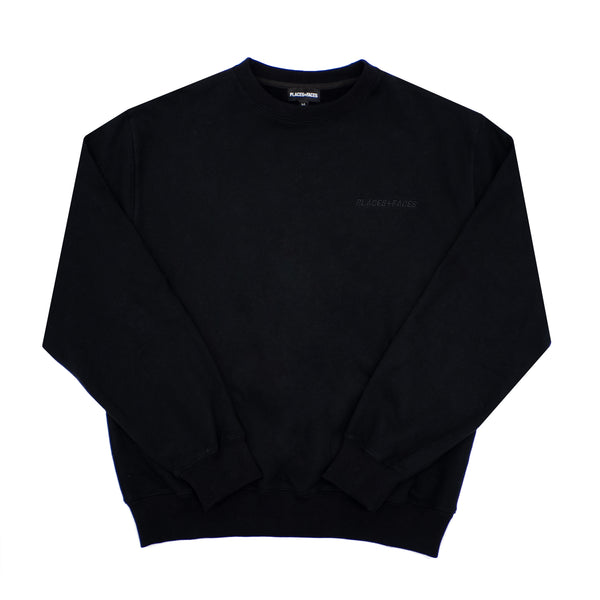 BLACK ON BLACK CREWNECK
