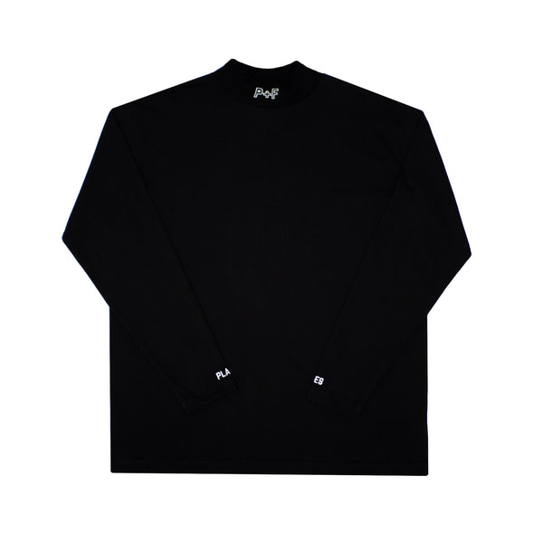 MOCK NECK TOP - BLACK