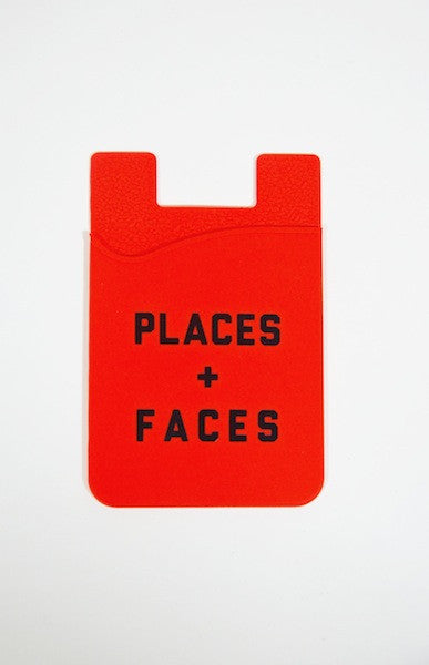PLACES PLUS FACES CARD HOLDER RED