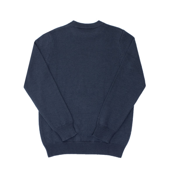 CAUTION MERINO SWEATER - ROYAL BLUE