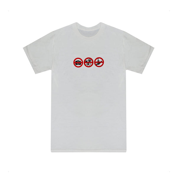 'NO DRUGS & NO SEX' T-SHIRT - WHITE