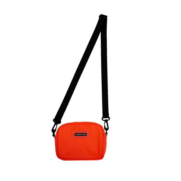 NYLON POUCH - NEON ORANGE