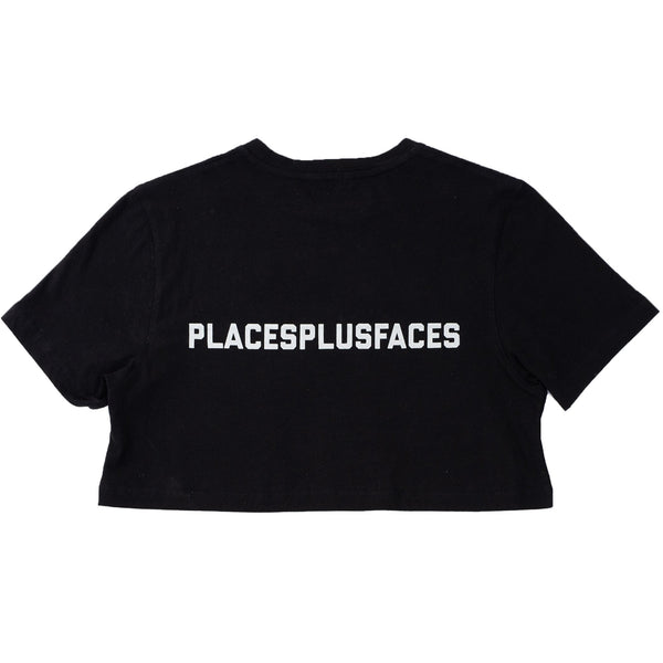 P+F CROP T-SHIRT - BLACK