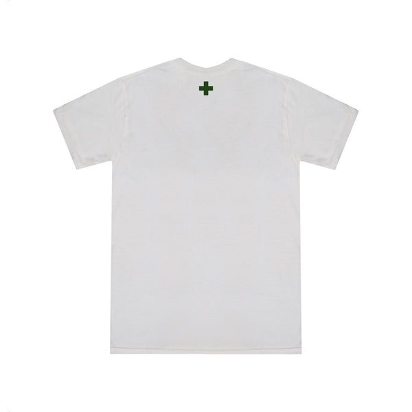SIGNATURE LOGO T-SHIRT - WHITE/KHAKI