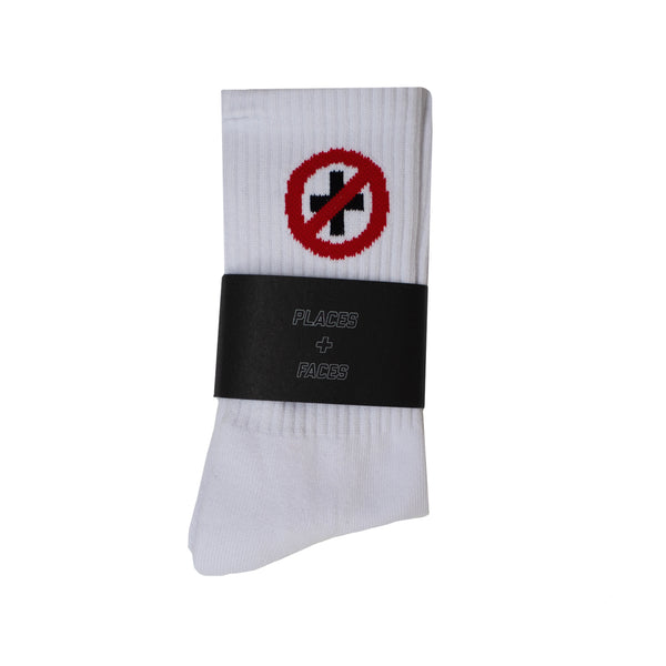 CAUTION SOCKS - WHITE