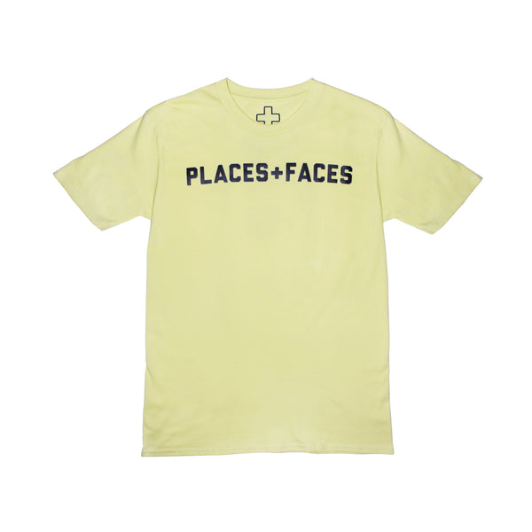 PLACES PLUS FACES SHORT SLEEVE LOGO TEE YELLOW