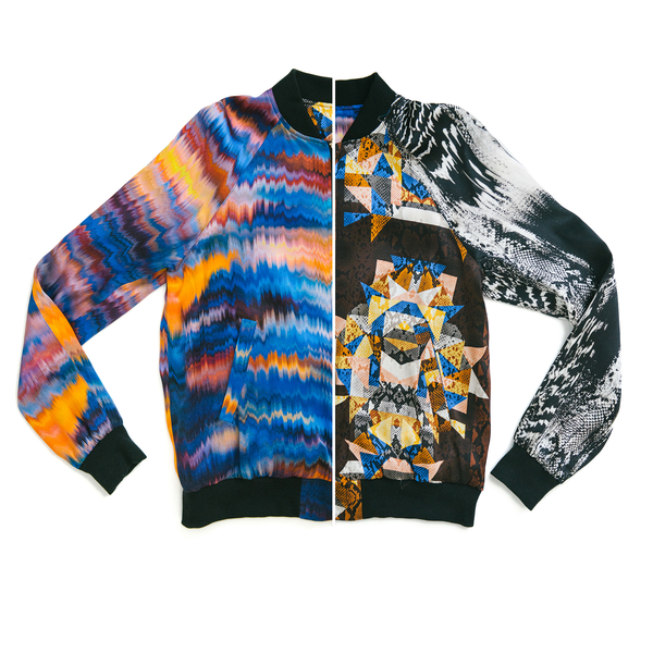 The Reversible Silk Bomber + Cobra Kaleidoscope/Oasis
