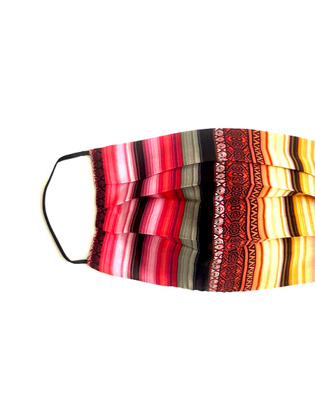 Printed Silk Face Mask + Serape Sunset